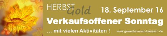 Breisach Verkaufsoffener Sonntag HERBSTGold