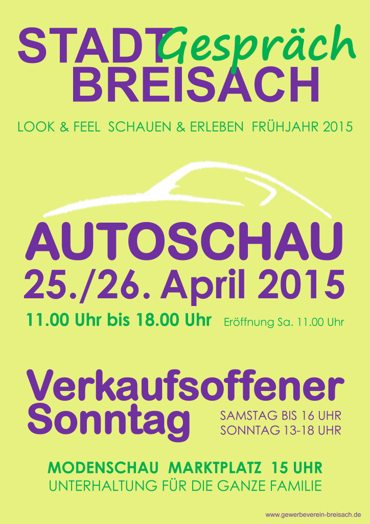 Autoschau 2015 in Breisach