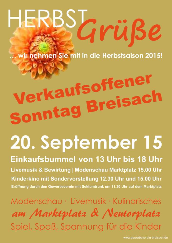 Verakufsoffener Sonntag in Breisach 2015