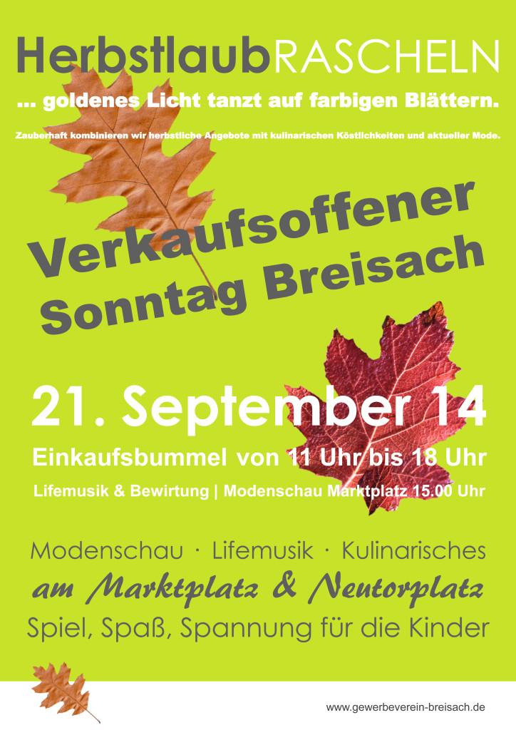 Verkaufsoffener Sonntag Breisach 2014