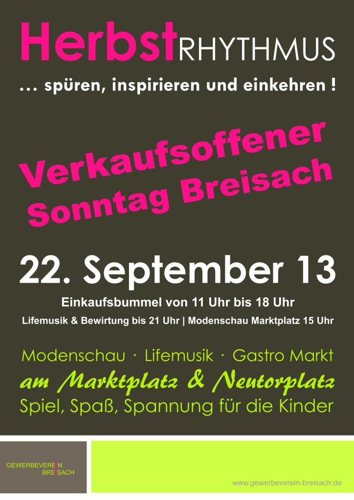 Verkaufsoffener Sonntag Breisach 2013