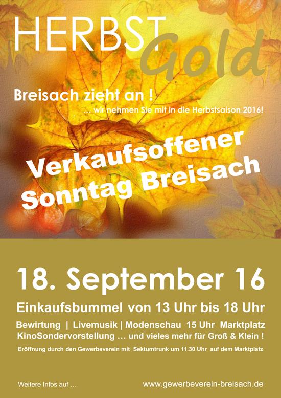 Verkaufsoffener Sonntag Breisach HERBSTGold